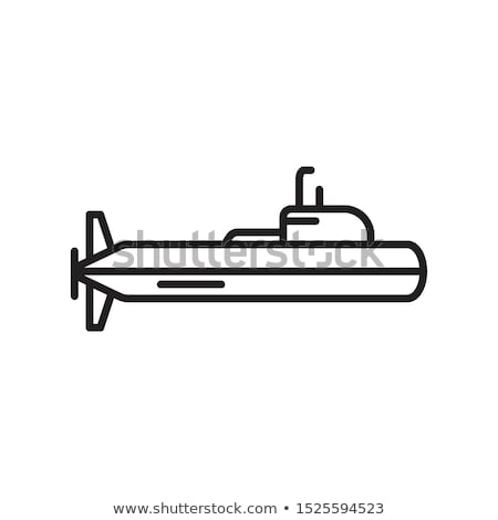 Military submarine silhouette Stock photo © Zhukow
