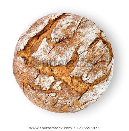 свежие буханка хлеб продовольствие один белом фоне Сток-фото © Digifoodstock