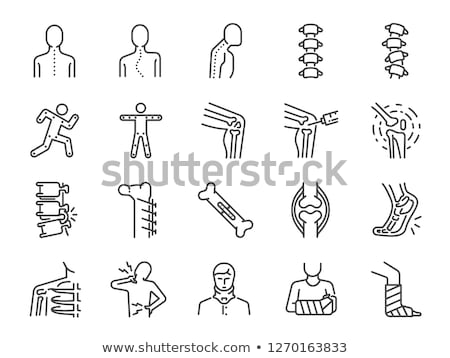 knee joint health care icon stock photo © tefi