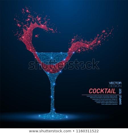 стекла · пить · синий · цвета · черный · фон - Сток-фото © stokato