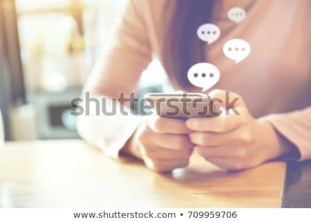 Connect · чате · речи · пузырь · сообщение · вектора - Сток-фото © filata