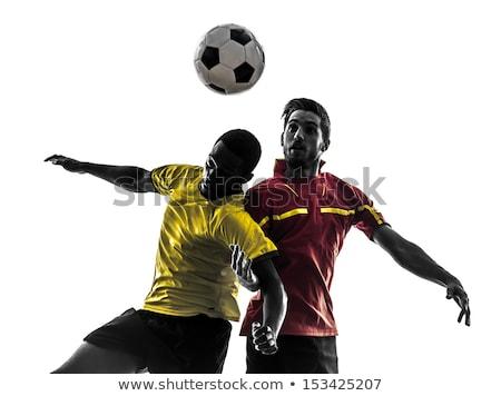два · африканских · Футбол · мяча - Сток-фото © rastudio