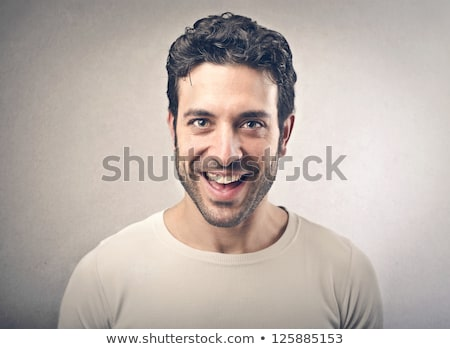 Man face happy laughing Stock photo © Kurhan