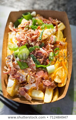 french cuisine with potato,bacon and cheese Stock photo © M-studio
