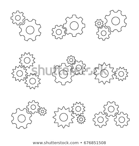 gears meshing together technic concept stock photo © janpietruszka