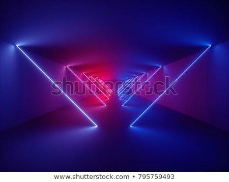 Teto néon luzes brilhante quarto interior Foto stock © stevanovicigor