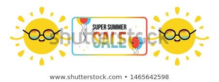 summer sky sun sunbeam colored balloons header stock photo © limbi007