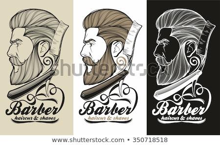 Barbado hombre signo icono retrato Foto stock © popaukropa