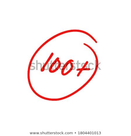 プラス 100 パーセント 書かれた 赤 ペン ストックフォト © icemanj