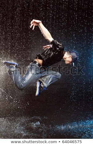 the male break dancer in water stock photo © master1305