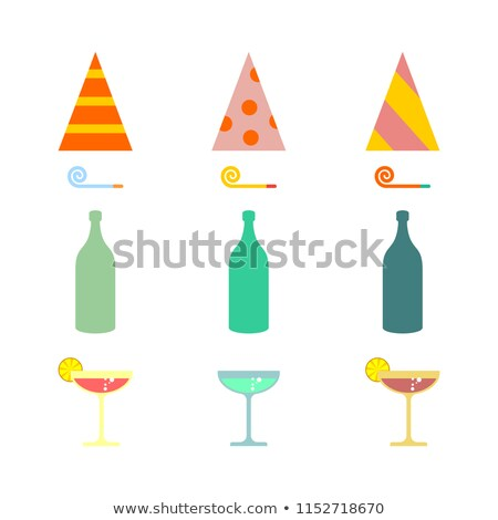 Party set. Celebratory cap and Party horn. alcohol cocktail Stock photo © MaryValery