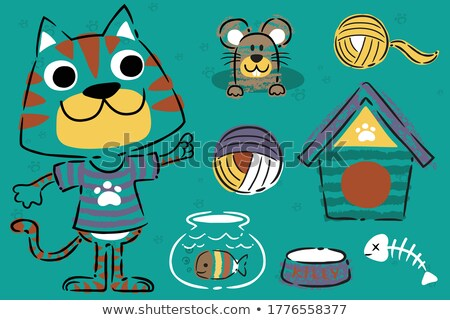 food groups chalk hand drawn animal icons stock photo © krisdog