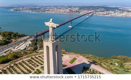 Lisszabon · híd · alkonyat · városkép · 25 · függőhíd - stock fotó © luissantos84