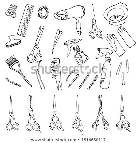 pisztoly · elemlámpa · vektor · terv · illusztráció · izolált - stock fotó © jiaking1