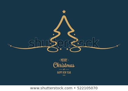 Light Blue Abstract Christmas tree stock photo © orson