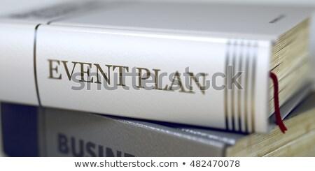 Esemény terv könyv cím gerincoszlop 3d render Stock fotó © tashatuvango