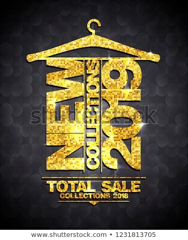 kleding · hanger · verkoop · tag · vector · Rood - stockfoto © timurock