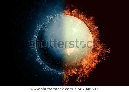 planeta · plutão · fogo · água · scifi - foto stock © nasa_images