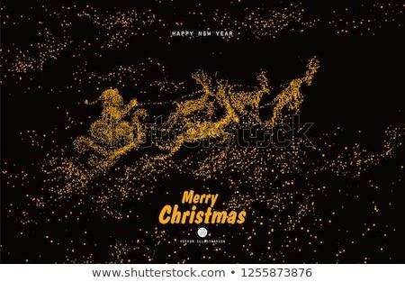 Noël or glitter vacances carte Photo stock © cienpies