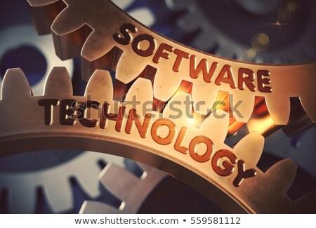 Software Optimization on the Golden Gears. 3D Illustration. Stock photo © tashatuvango