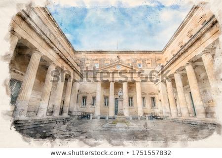 Stockfoto: Buste · vierkante · architectuur · Europa · stadsgezicht