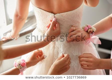 Portré menyasszony koszorúslány esküvő jókedv szín Stock fotó © IS2