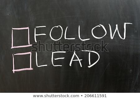 aderente · leader · scelta · diverso · convinzione · uomo - foto d'archivio © lightsource