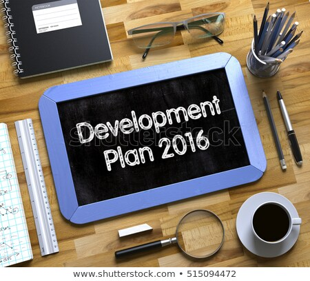 Development Plan 2016 Concept on Small Chalkboard. 3D. Stock photo © tashatuvango