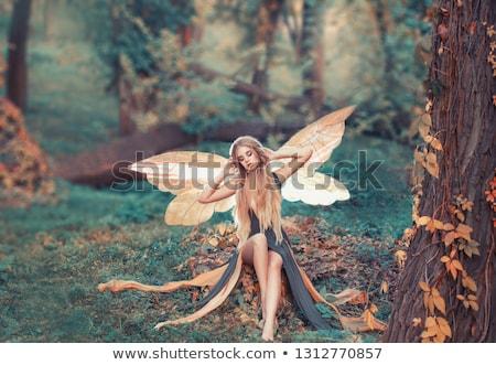 blonde with cue Stock photo © Pilgrimego