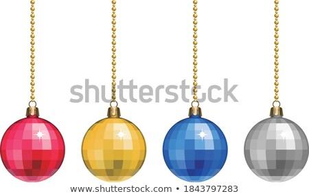 allegro · Natale · oro · retro · vettore - foto d'archivio © articular