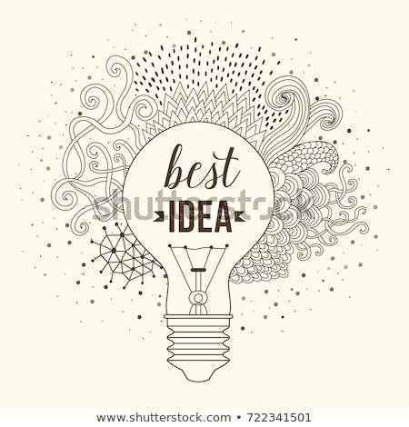 Smart Ideas in Multicolor. Doodle Design. Stock photo © tashatuvango