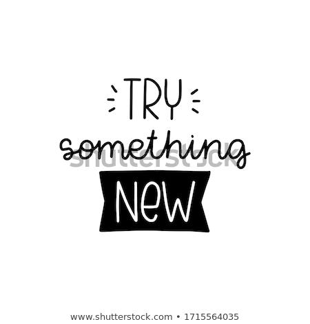 learn something new on white wall stock photo © tashatuvango
