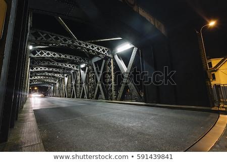 Forgalom híd éjszaka Lyon Franciaország autó Stock fotó © vwalakte