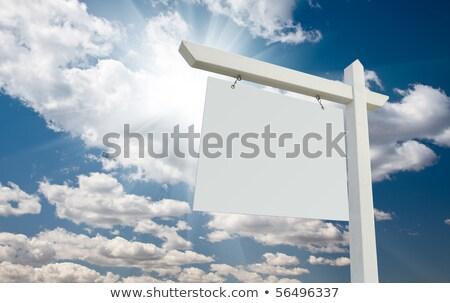 ingatlan · felirat · fehér · izolált · út · vásár - stock fotó © feverpitch