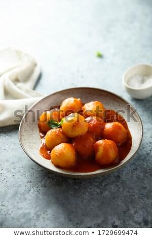 Boulette sauce fond dîner chinois repas Photo stock © M-studio
