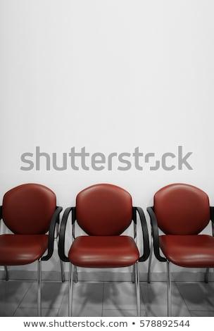 mujer · sesión · espera · oficina · tecnología · diversión - foto stock © is2