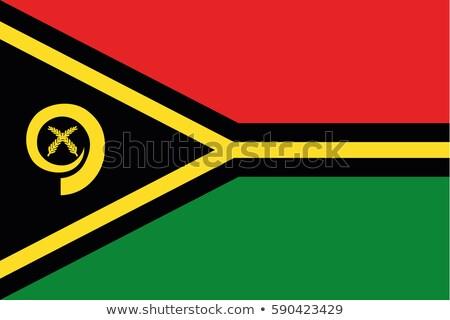 Vanuatu bandeira branco assinar viajar vermelho Foto stock © butenkow