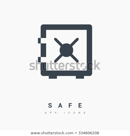 Armored deposit box icon in flat style stock photo © studioworkstock