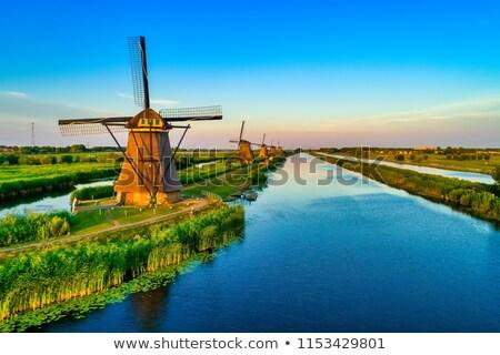 moinho · de · vento · holandês · Holanda · famoso · histórico · água - foto stock © benkrut