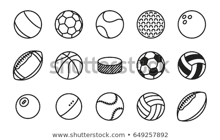 Biljart icon geïsoleerd witte vector logo Stockfoto © sidmay