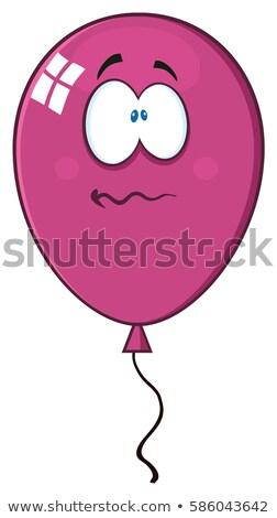 Nervos luminos violet balon mascota de desene animate Imagine de stoc © hittoon