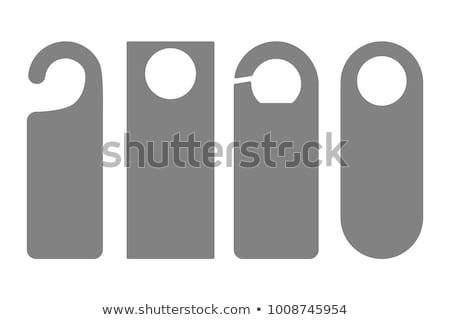 Ajtó címke ikon fehér terv utazás Stock fotó © smoki