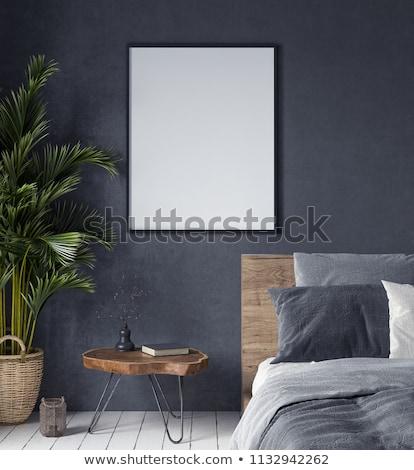 anunciante · moderna · interior · lámparas · 3D - foto stock © user_11870380