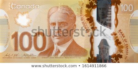 Zdjęcia stock: Bills And Canadian Dollars