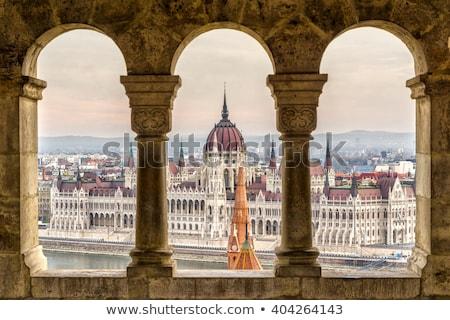 Vue Budapest basilique Hongrie soleil bleu Photo stock © Givaga
