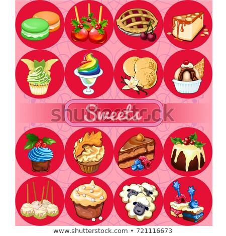 conjunto · delicioso · sobremesas · comida · esboço - foto stock © Lady-Luck