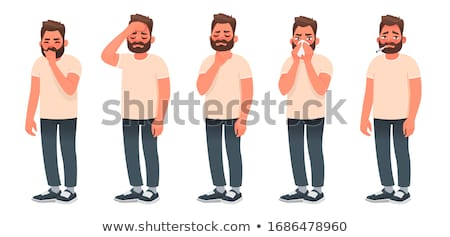 Beteg férfi illusztráció orvosi személy rajz Stock fotó © artisticco