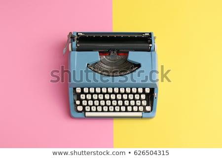 Stock fotó: Klasszikus · írógép · copy · space · iroda · fekete · retro