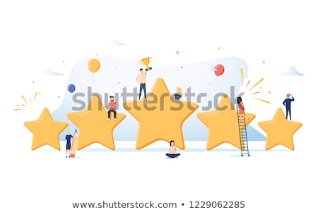 five stars rating flat isometric vector concept stock photo © tarikvision