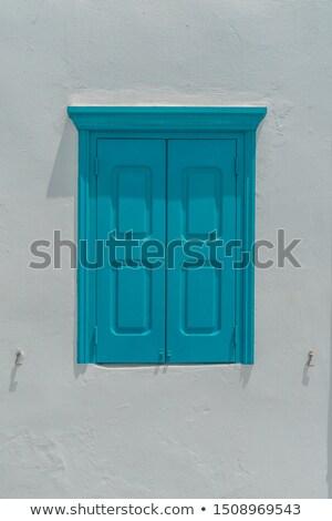 表示 古い 石 住宅 窓 ストックフォト © bezikus
